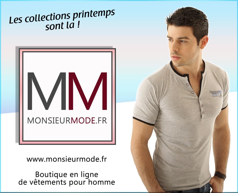 Les collections de vêtements printemps débarquent chez MonsieurMode